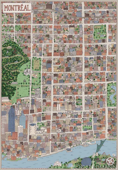 Montreal Map - BjörnFeldmann