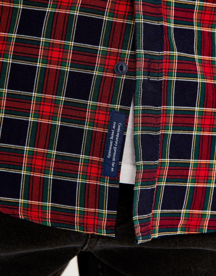 Camisa cuadros - Camisas - Ropa - Hombre - PULL&BEAR España