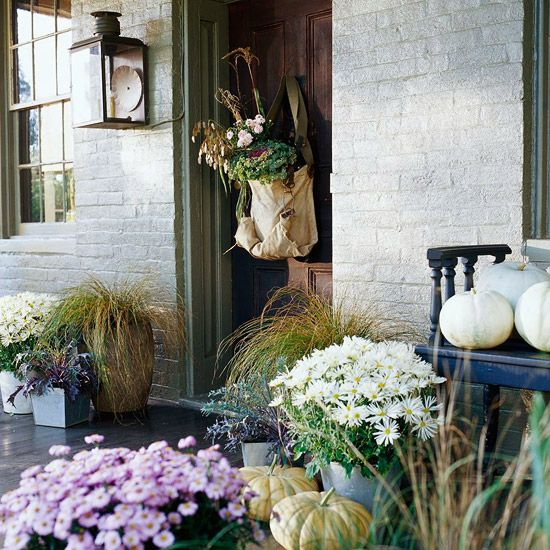 17 Small Front Yard Landscaping Ideas To Define Your Curb: 17 Best Images About Front Door/Porch Fall Decor On
