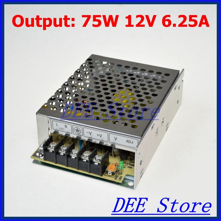 Small Volume Led driver 75W 12V 6.25A Single Output  Adjustable Switching power supply for LED Strip light  AC-DC Converter //Price: $8.92//     #onlineshop