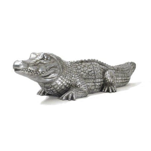 A Table Top Stone Resin Crocodile Bookend Set ** You can get more details by clicking on the image.