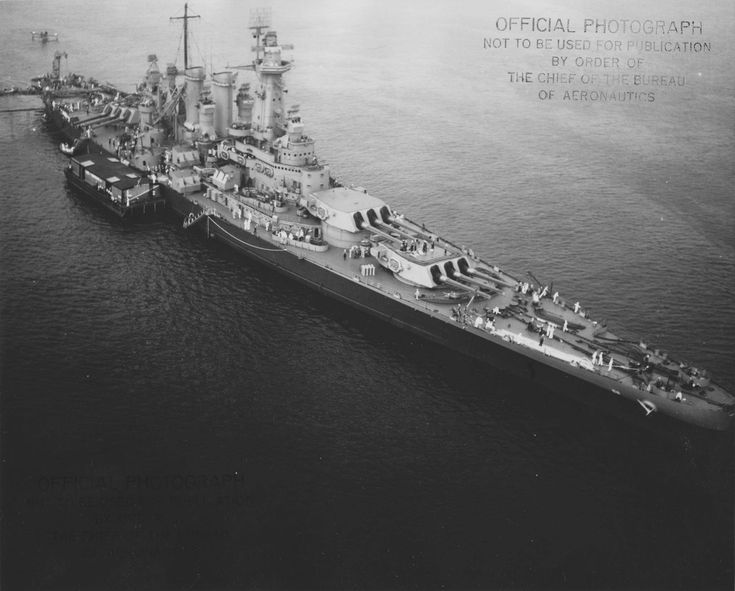 """USS Washington (BB-56), the only American battleship to sink an enemy battleship (IJN Kirishima) during a war in a """"one on one"""" combat at night. This great warship is the second of North Carolina class!"""