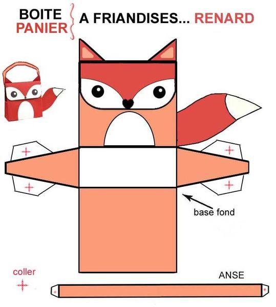 FREE printable fox favor bag