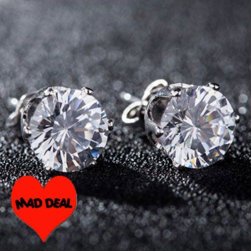 Make a Difference Deal! Twinkling 925 8mm Crystal Stud Earrings – UCHARMME.co.nz