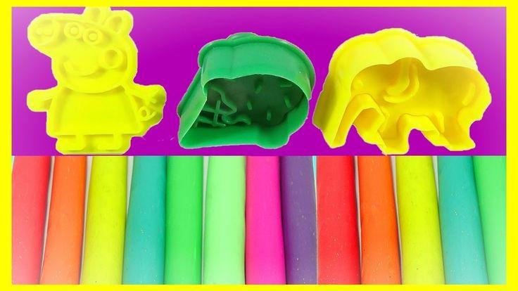 Learn Colors Play Doh Animal Elephant Cream Cups Molds Fun! \ Finger Family Nursery Rhymes