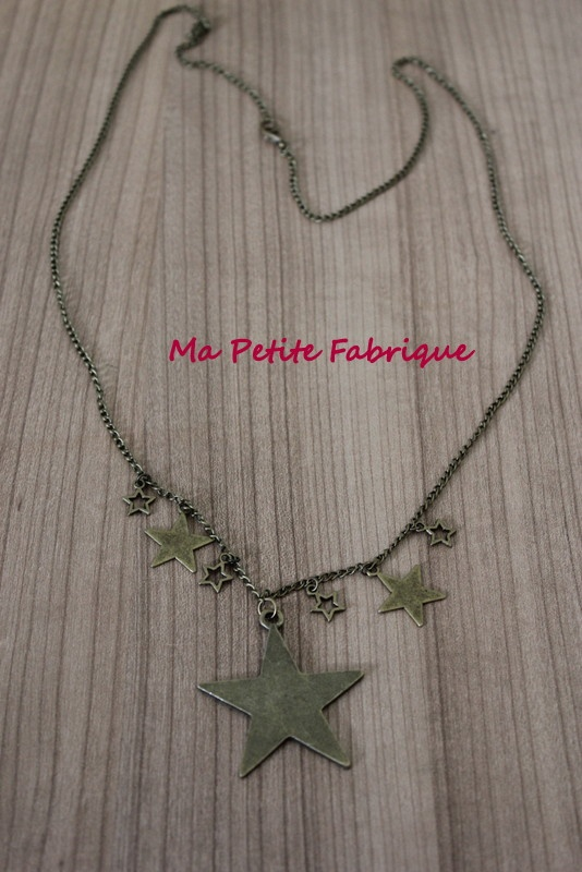 "collier étoiles "" born to be a star"""