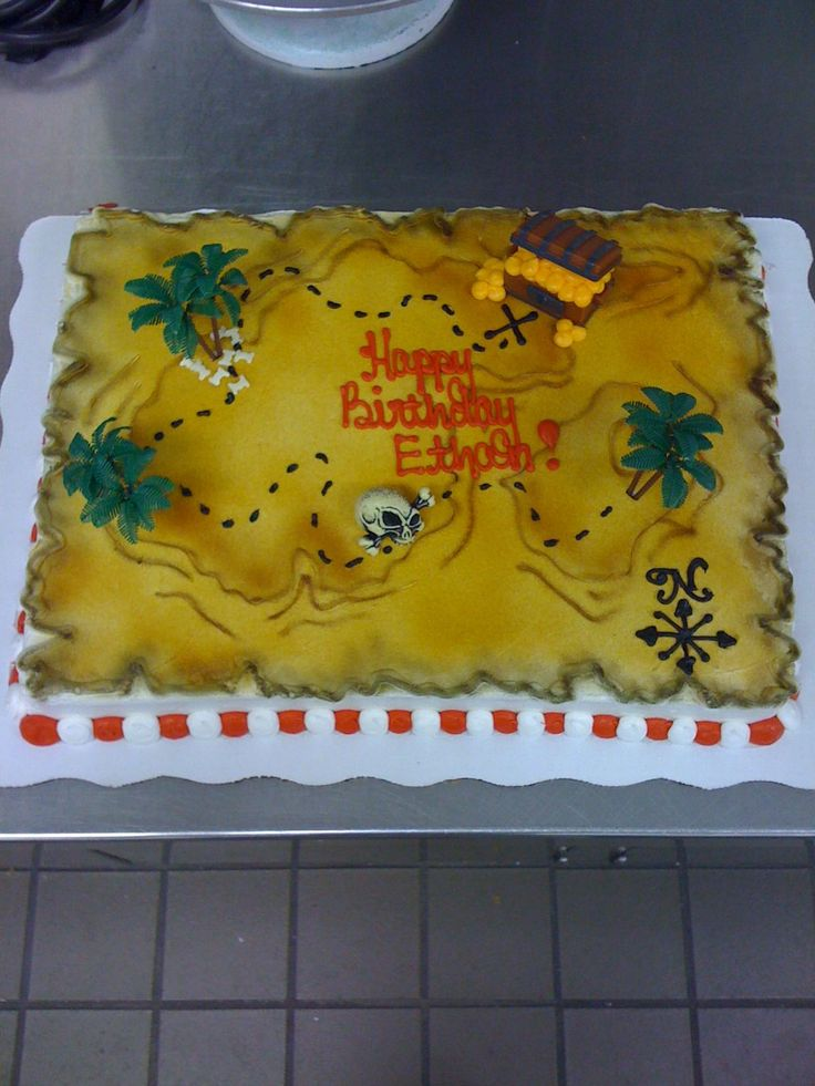 25 Best Ideas About Treasure Map Cake On Pinterest