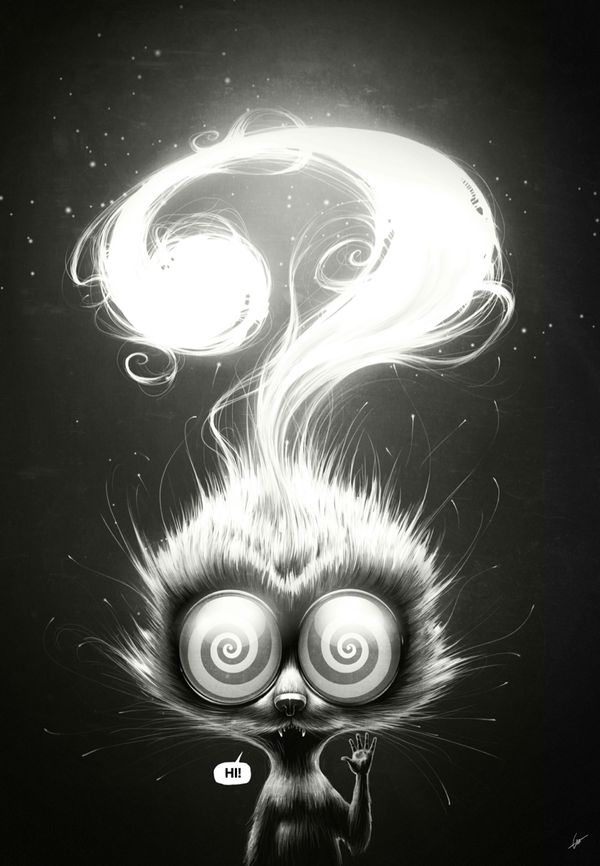 Hu, Night Shift & Question! by Lukas Brezak, via Behance
