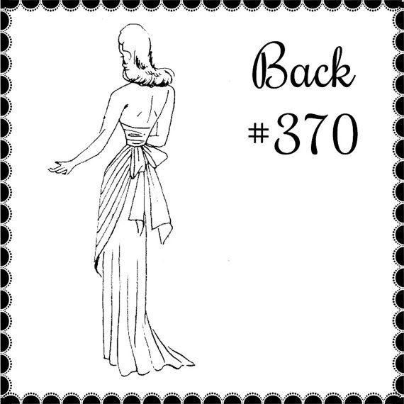 Спинки вечернее винтажная Швейная узор 1940-х годов или Mrsdepew