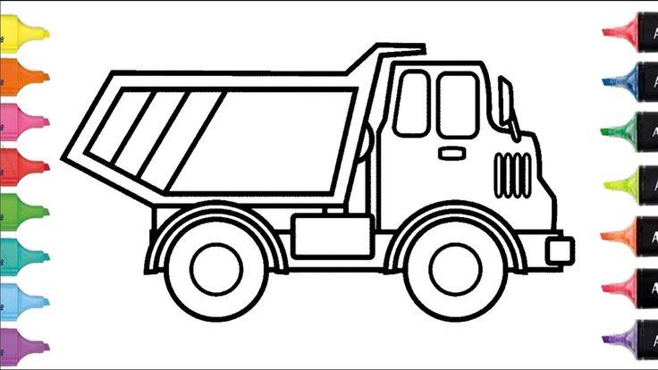 Cómo Dibujar y Colorear una camión de Arco Iris | Dibujos Para Niños | L...
