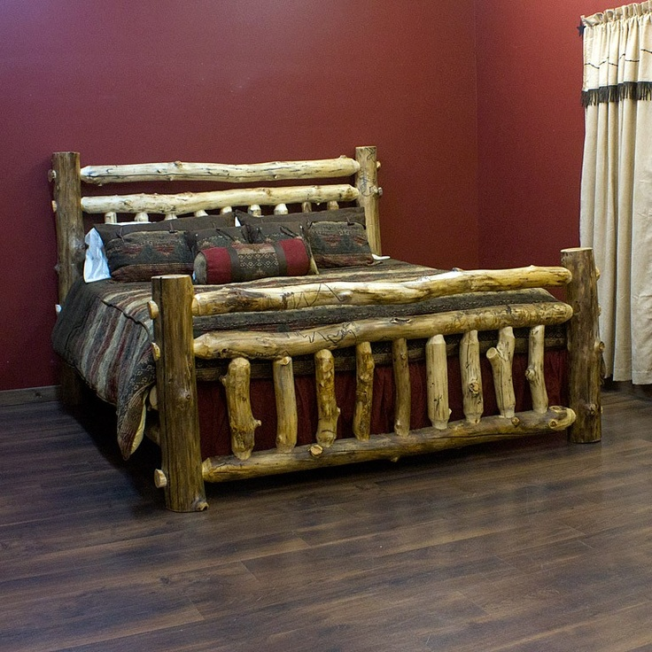 aspen log bedroom sets estate light creek bed