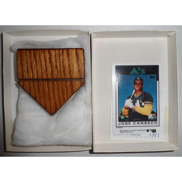 Porcelain Topps Jose Canseco Card Ltd. Ed. #108222 Listing in the Other,MLB,Baseball,Sports Cards,Sport Memorabilia & Cards Category on eBid United States   145085493