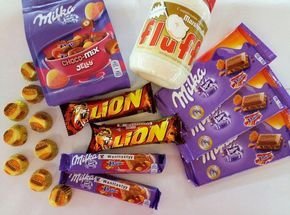 Milka Choco mix Jelly 329 Шоколад Milkа Daim 149 Батончик Milka Daim 69 Батончик Lion с карамелью 49 Паста Маршмеллоу Fluff 299 Конфетки Reese's 25 вкуууусно)))) приходите мы ждём #wanttasty