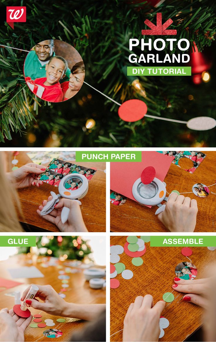 Festive holiday photo garland! Get the DIY tutorial on our Smile blog.