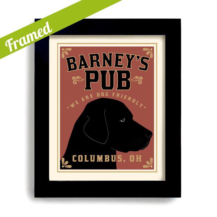 Bar Art Labrador Retriever Art Black Dog Art Print Personalized Dog Art Black Lab Pub Decor by DexMex on Etsy https://www.etsy.com/listing/102708953/bar-art-labrador-retriever-art-black-dog