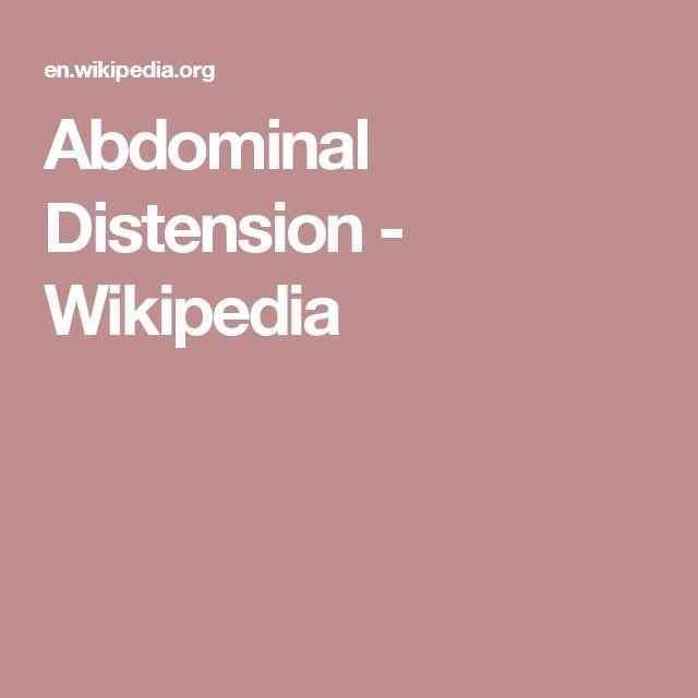Abdominal Distension - Wikipedia