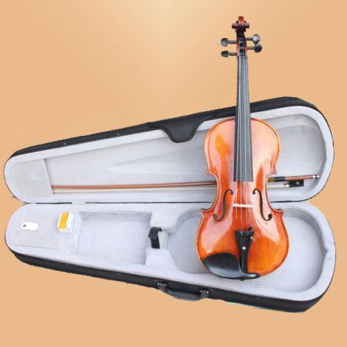 ==> [Free Shipping] Buy Best NEW Full Size 44 Violin Set W Case Bow Accessories Handmade SOLID WOOD VIOLIN Online with LOWEST Price | 1839451726
