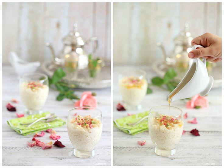 Pudin de arroz persa- ¿No quieres caldo?... Pues toma 2 tazas
