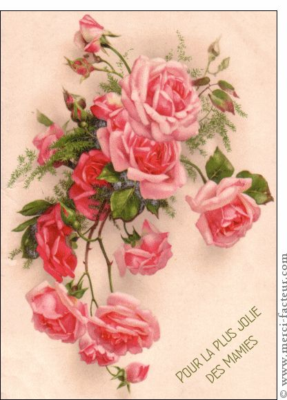 Carte Pour la plus jolie des mamies pour envoyer par La Poste, sur Merci-Facteur ! #mami #grandmère #fêtedesgrandsmères #carte