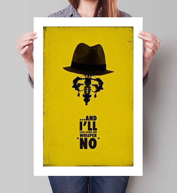 """WATCHMEN Inspired Rorschach Minimalist Movie Poster Print - 13""""x19"""" (33x48 cm)"""