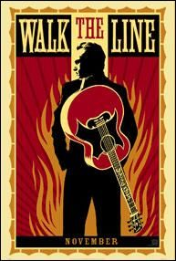 """""""Walk the Line"""" (2005). COUNTRY: United States. DIRECTOR: James Mangold. SCREENWRITER: James Mangold, Gil Dennis (Autobiography: Johnny Cash). COMPOSER: T-Bone Burnett (Songs: Johnny Cash). CAST: Joaquin Phoenix, Reese Witherspoon, Robert Patrick, Ginnifer Goodwin, Shelby Lynne, Hailey Anne Nelson, Dallas Roberts, Larry Bagby, Waylon Payne"""