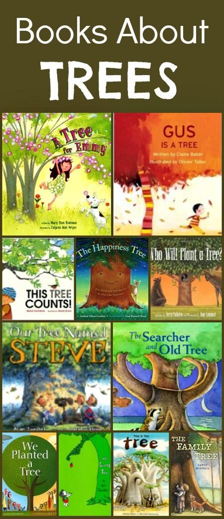 A collection of books about trees. Perfect for reading to kids for Earth Day, Arbor Day, or any day.