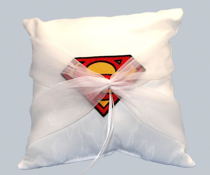 Ring Pillow  with Patch – Man of Steel Theme