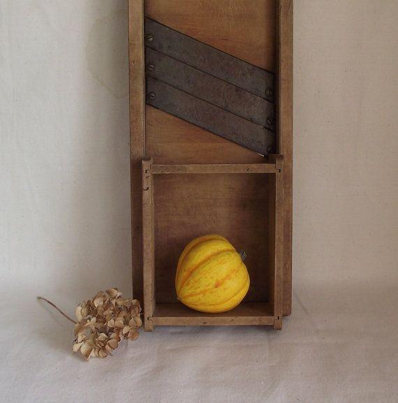 Vintage Farmhouse Kraut Cabbage Cutter Mandolin by JodysVintage, $31.50
