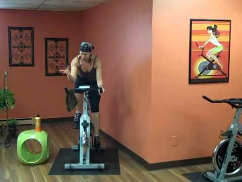35 minute spin bike workout - like this one a lot.