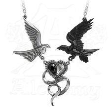 Alchemy Gothic EPIPHANY OF ST. CORVUS Necklace, Tough Love, Raven & Dove P771
