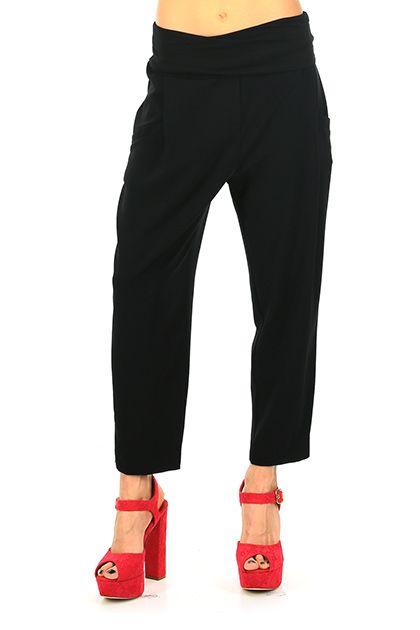 MANILA GRACE - Pantaloni - Abbigliamento - Pantaloni in tessuto elasticizzato con fascia elastica in vita. Tasche laterali ed a filetto sul retro. - MD196 - € 149.00