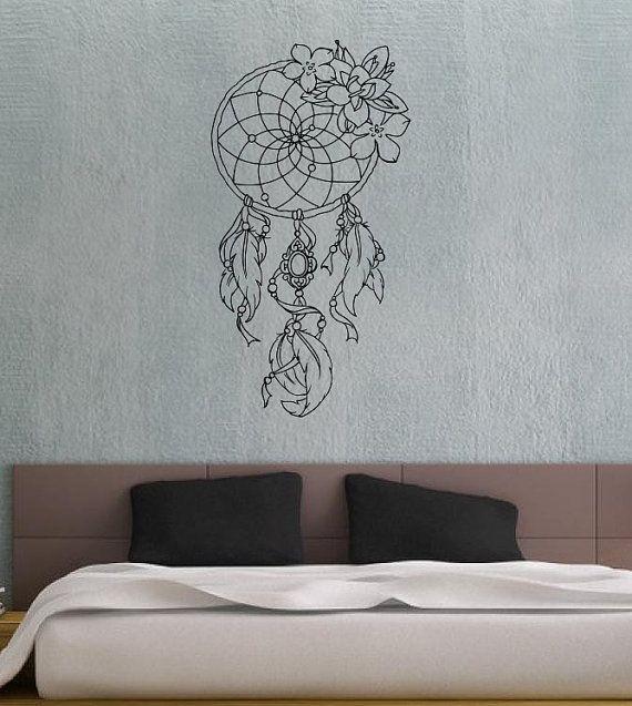 dreamcatcher dream catcher feathers housewares wall vinyl decal art design bedroom interior. Black Bedroom Furniture Sets. Home Design Ideas
