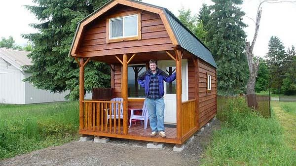 Max had his 10ft x 20tf cabin built last year by birky 39 s for Small house builders washington state