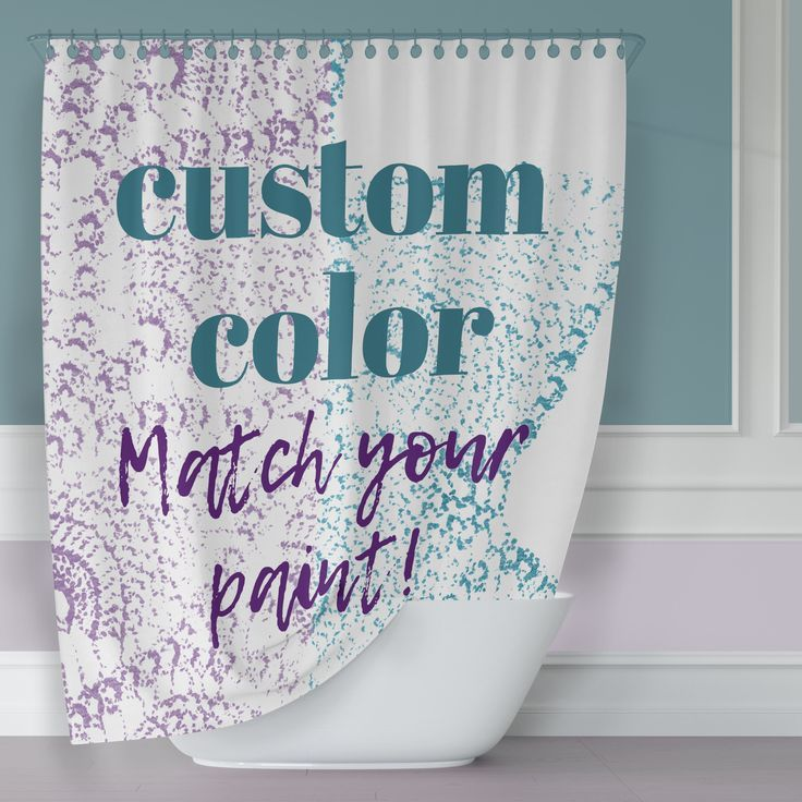 Custom Color Antique Lace Print Shower Curtain Original Print Made To Order To Match Your Purple Bathroom Decor Purple Shower Curtain Printed Shower Curtain