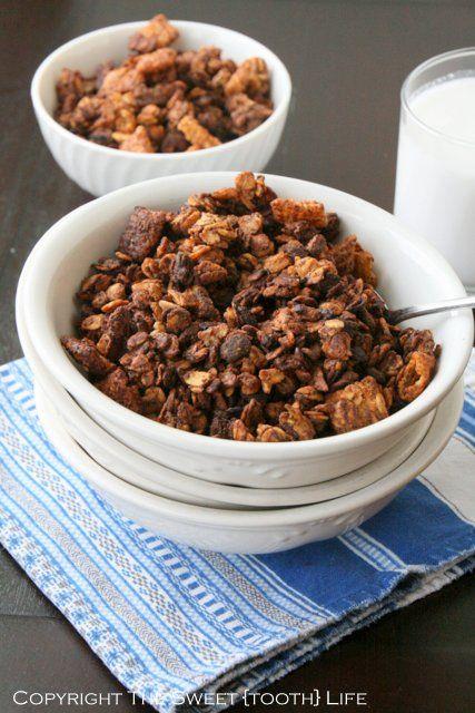Healthy Muddy Buddies Granola (gluten free, dairy free) - The Sweet ...