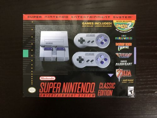 SAME DAY SHIP Super Nintendo Entertainment System: SNES Classic Edition 2017 | eBay