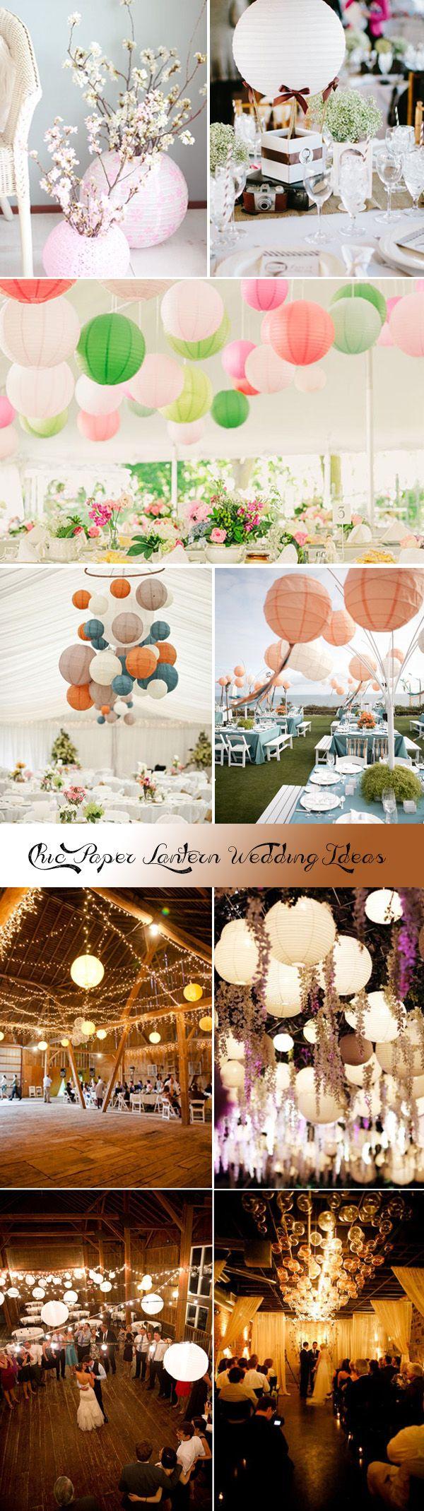 chic paper lantern wedding inspirations