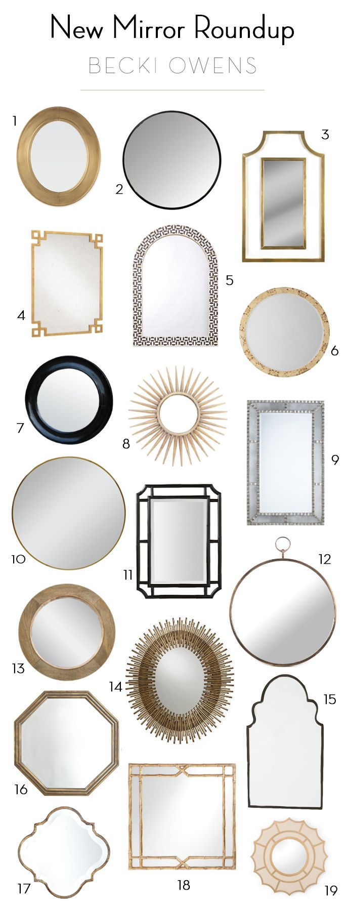 / See more of this entry space here / Remember the guest prep post from last week on making a great first impression with a beautiful entry? To follow up I did some shopping over the weekend and updated my mirror shop with a great selection of new mirrors. A mirror styled above a …