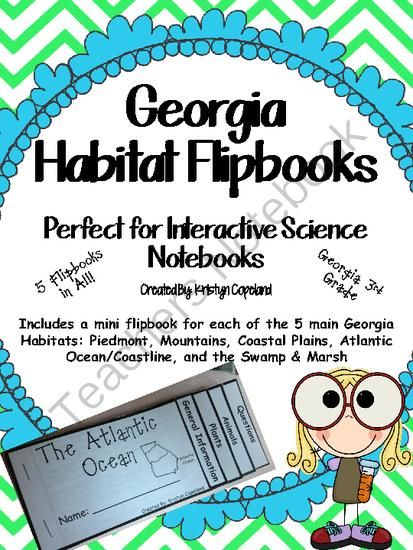 Georgia Habitats Flipbooks Pack (Interactive Notebooks) from Copeland's Got Class in 3rd on TeachersNotebook.com -  (15 pages)  - Georgia Habitats Flipbooks Pack (Interactive Notebooks)