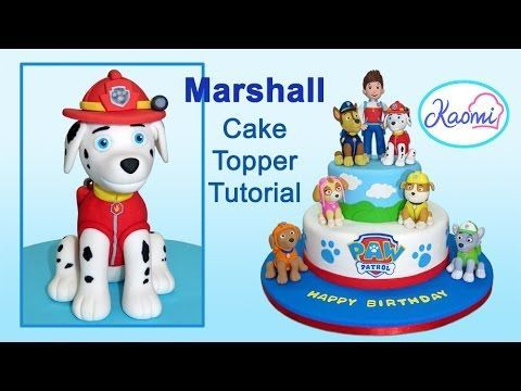 Paw Patrol (Cake Topper): Marshall /Patrulla de cachorros: Cómo hacer a Marshall - YouTube