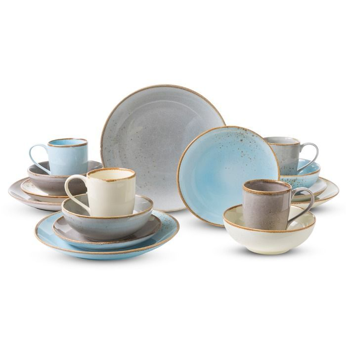 Creatable Kombiservice Skandinavian 16tlg Blau Steinzeug In 2020 Tableware Design Stoneware Glassware