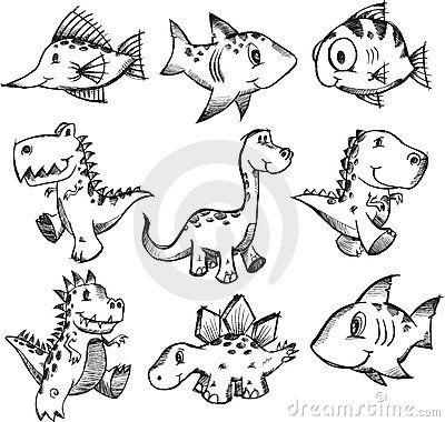 dinosaur doodle...YES!!!!