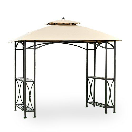 Garden Winds Sheridan Grill Gazebo Replacement Canopy, Rip Lock 350 > Replacement canopy only and metal structure not included This is a replacement canopy for the Sheridan grill gazebo, this canopy is made from rip lock fabric Color: Beige (different from original) Check more at http://farmgardensuperstore.com/product/garden-winds-sheridan-grill-gazebo-replacement-canopy-rip-lock-350/