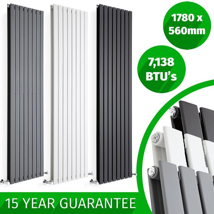 DESIGNER-RADIATORS-Vertical-Flat-Panel-Tall-Upright-Columns-Central-Heating-UK