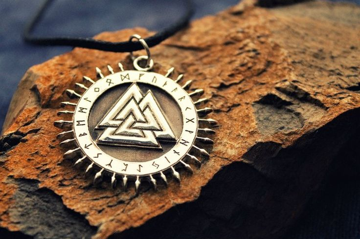 Stunning Necklace Pendant: Scandinavian Mythology - Walhall Valknut – Search tags:  Check more at https://idolstore.net/shop/categories/accessories-jew/necklace-pendant-scandinavian-mythology-walhall-valknut/