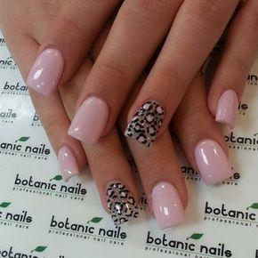 leopard pastel nails