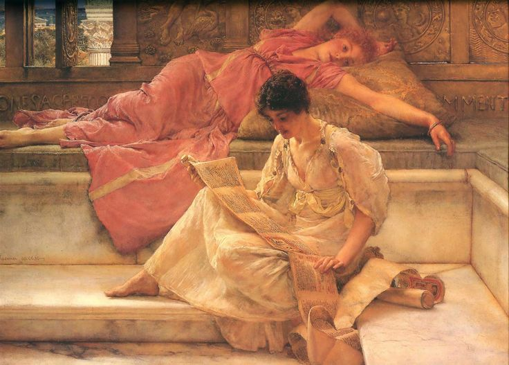 Sir Lawrence Alma-Tadema, The Favourite Poet, 1888