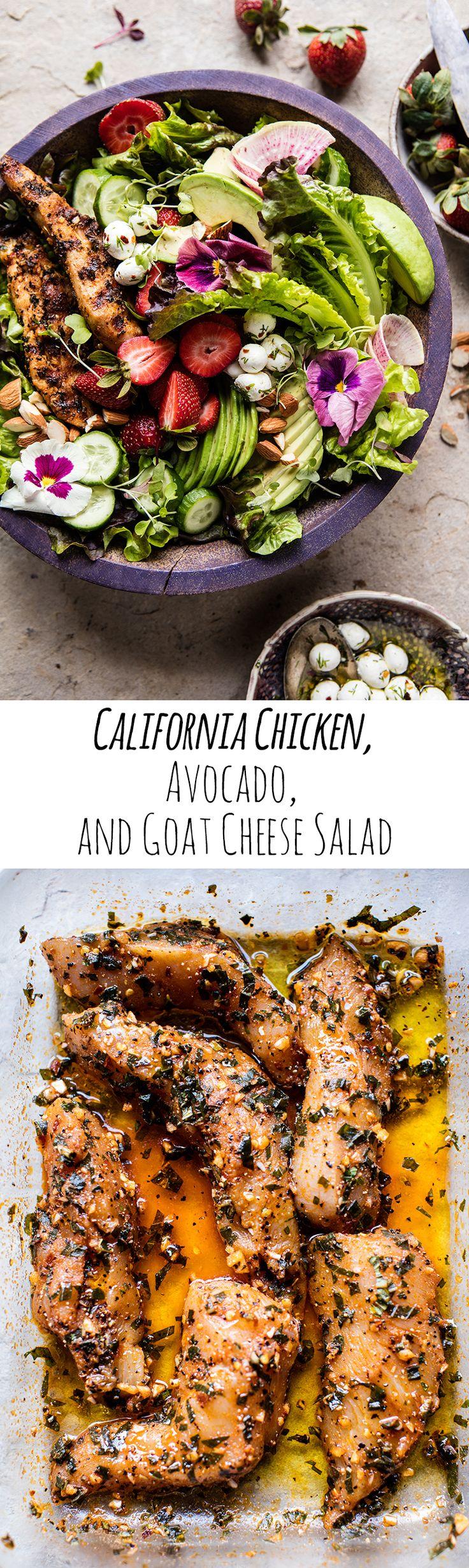 California Chicken, Avocado, and Goat Cheese Salad | halfbakedharvest.com @hbharvest