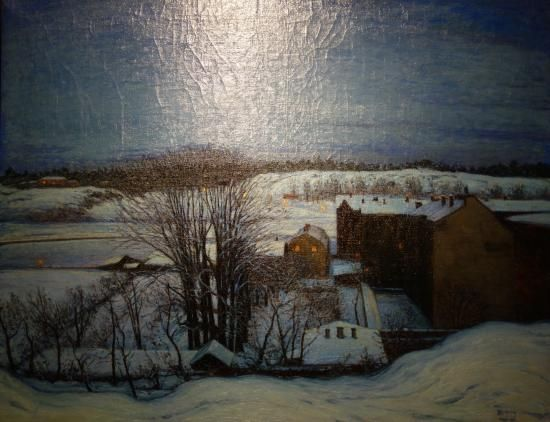 Museum of Fine Art (Goteborgs Konstmuseum), Gothenburg Picture: Karl Nordström: Winter Evening at Roslagstull, Stockholm - Check out TripAdvisor members' 12,475 candid photos and videos.