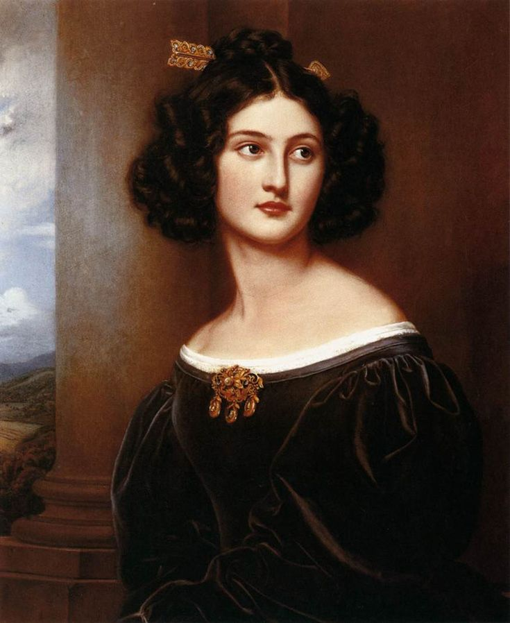 Nanette Heine, née Kaula, 1829 by Joseph Karl Stieler